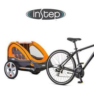 NEW INSTEP DOUBLE BICYCLE TRAILER - 132149558 - QUICK N EZ BIKE TWO SEAT