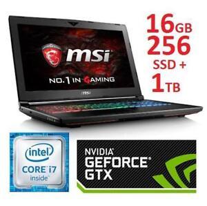 NEW MSI DOMINATOR 15.6 GAMING PC - 131895669 - LAPTOP COMPUTER PC INTEL I7 16GB MEMORY 256GB SSD 1TB HDD GTX1070 WIN 10