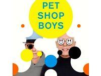 Pet shop boys Edinburgh 2 tickets front circle face value 100 pounds