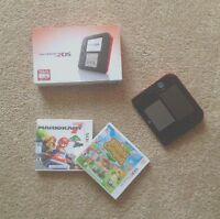 Nintendo 2DS Red & Black with TWO GAMES INCLUDED