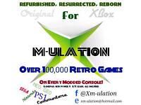 500GB ORIGINAL XBOX + 130,000 games + 80 Apps + 120 Skins....Amazing Retro Gaming!