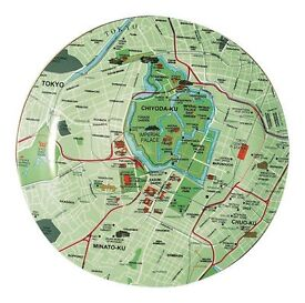 Brand new Seletti Tokyo Map Plate