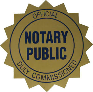 Public Notary Commissioner of Oaths Mobile GTA 24/7 416-274-4473