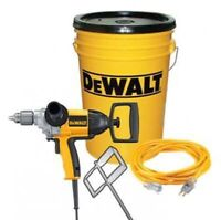 Dewalt heavy duty drill and mixing blade combo