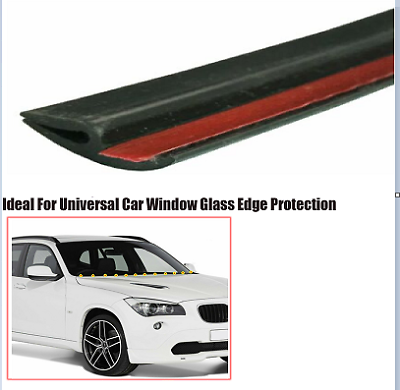 16ft Car Windshield Rear Rubber Seal Strip Anti Dust Soundproof Accessories