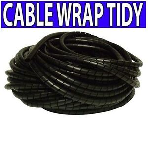 CABLE WIRE BINDING TIDY SPIRAL WRAP HIDE - 3-10MM