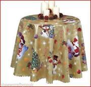Christmas Oilcloth Tablecloth