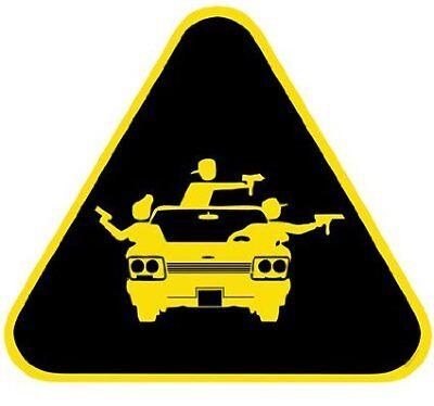 Aufkleber / Autoaufkleber Gang Warning pro gun - US5825D
