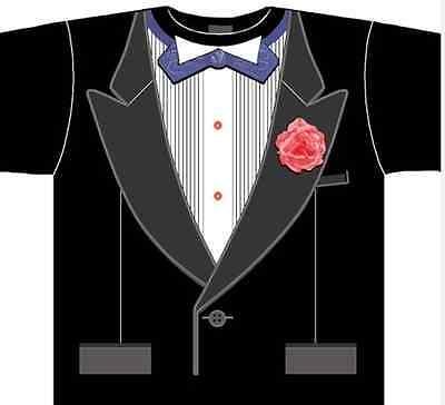 Kostüme Adult T Shirt Tee (Adult Funny TUXEDO Suit Wedding Costume T-Shirt Tee)
