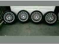 Mitsubishi EVO 6 (5/4/7/8/9) OZ alloys potenza tyres