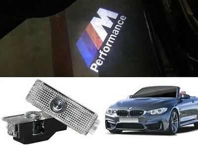 BMW M PERFORMANCE LOGO LED PUDDLE PROJECTOR GHOST DOOR LIGHTS F30 F10 E90 E60