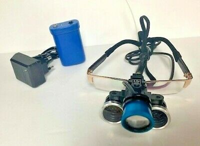 3.5x Medical Surgical Loupe Magnifier Optical Glass With Led Head Case