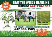LAWN FERTILIZER and WEED CONTROL CONTRACTS ON SALE NOW