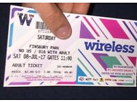 2 tickets for wireless Saturday