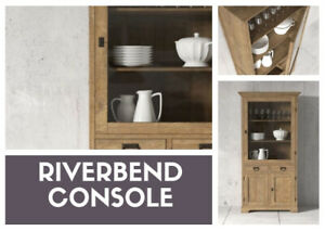 "Riverbend Display Cabinet in 36"" - Reclaimed Teak - Now On Sale"