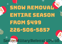 **Insured Residential** Worry FREE! Snow removal