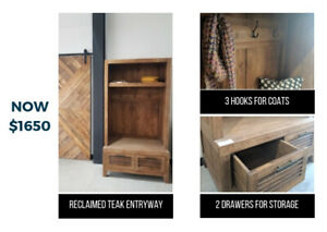 Rustic Hall Tree / Entryway with Storage Units