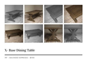 """Open Box Solid Wood Dining Table 78"""" for SALE"""