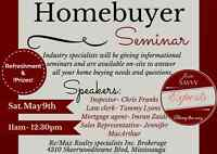 *FREE Home Buyers Seminar! Inspector, Mortgage, Law &Real estate