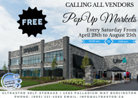VENDORS WANTED - FREE POPUP MARKET - BURLINGTON