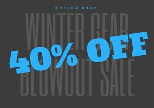 WINTER BLOWOUT SALE! 40% OFF EVERYTHING SNOWBOARDING!