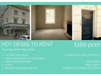 HOT DESKS AVAILABLE TUNBRIDGE WELLS HIGH STREET