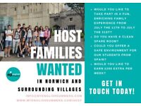 HOST FAMILIES WANTED IN JULY