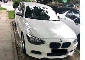 WHITE BMW 1 SERIES M SPORT 2L
