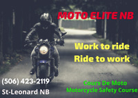 Cours de Moto Saint-Leonard NB offert à tout les weekend