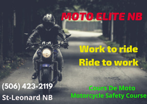 Motorcycle Safety Course every weekend in Saint-Leonard NB