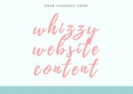Whizzy Website Content