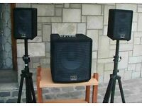 Speakers and mixing desk