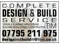 ARCHITECT'S DRAWINGS PLANS PLANNING APPLICATION PERMISSION BUILDING REGULATIONS EXTENSION BUILDER