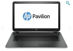 "17""  HP Pavilion 17f180ca Laptop  Like New 3 months old"