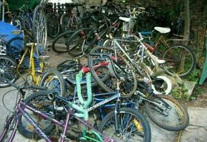 Unwanted bicycles