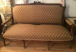 ANTIQUE LOUIS XV STYLE SOFA & ANTIQUE SOFA BED