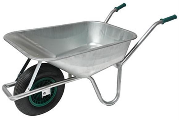 Schubkarre 100 ltr. bis 200kg vollverzinkt Gartenkarre,Bauschubkarre,Baukarre PU