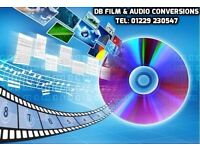 DB FILM & AUDIO CONVERSIONS - Vhs, Camcorder, 8mm, Negatives to DVD or USB. Tel: 01229 230547