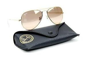 6247dcd1ee Ray-Ban RB3025 001 3E Gold Frame   Brown-Pink Silver Flash Lens