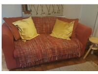 Terracotta fabric two seater Sofa for free