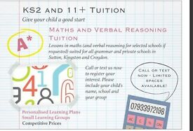 KS2 AND 11+ MATHS AND VR TUITION