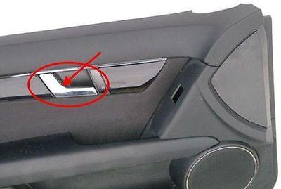 For Mercedes W204 C300 2pcs Car Chrome Interior Door Handle Repair Left Side