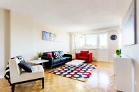 Maintenance-free living! 1 and 2 BDRM rentals in Cote Saint-Luc!