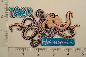 HAWAII Tako OCTOPUS Hawaiian State Travel Souvenir PATCH
