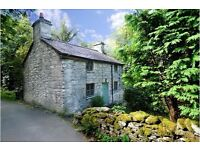 Riverside, traditional Welsh stone cottage, sleeps 4. Quaint, quirky, remote yet easily accessible
