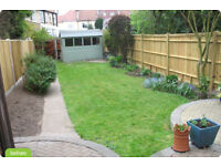 Gardener available lawns hedges trees weeds planting