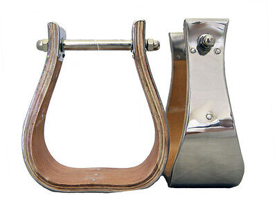 "3"" MONEL BELL STIRRUPS (Stainless) - MADE IN USA - WORKING QUALITY!"