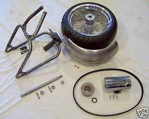 1991-Up XL/Sportster 240/250 Wide Tire Hardtail Kit w/Wheel, Tire, Fender, Tank