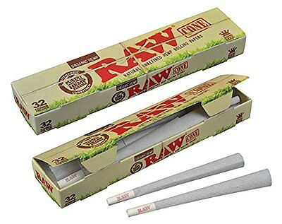 32 x RAW ORGANIC Cones Classic Rolling Smoking Papers King Size 109 mm + Tip ()