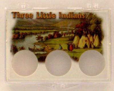 Three Little Indians Villiage, 2X3 Snap Lock Coin Holders, 3 pack